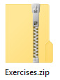 vetoketju kansion päällä ja zip-tiedostotunniste kuvassa