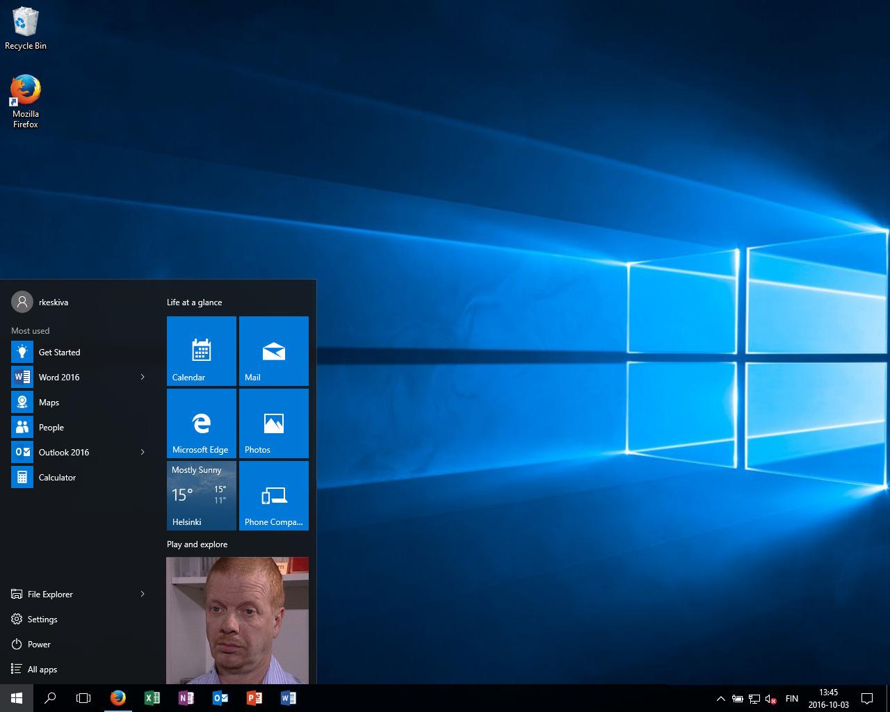 Windows 10 Työpöytä Kadonnut