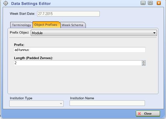 module prefix uusi