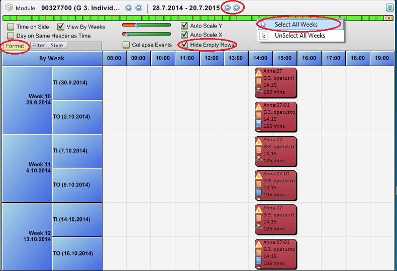 kuva timetable modulen tarkastelu