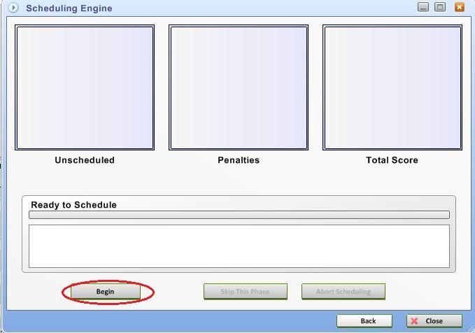 scheduling engine begin