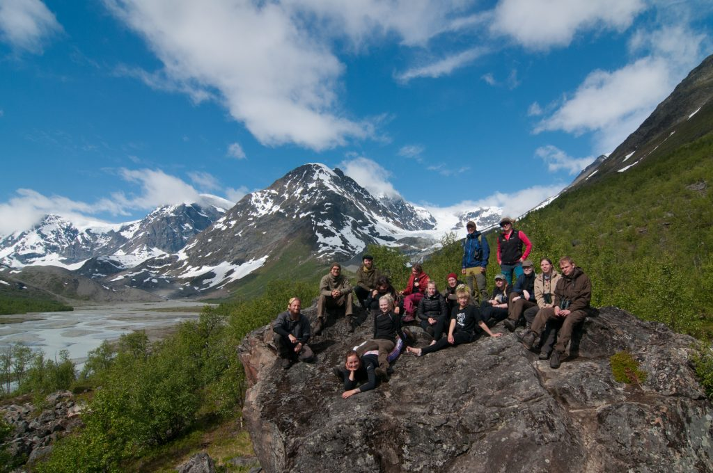 Visiting a glacier and the glacial throughs (U-valleys) is the excursion that many students hold as the highlight of the course (photo: Aki Aintila).