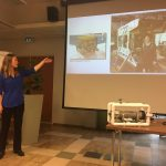 Andrea Schmuttermair telling about ROV's.
