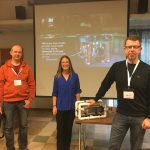 Project ROV at the ITK 2018 -seminar. People from left to right: Niko Nappu, Andrea Schmuttermair and Kimmo Karell.