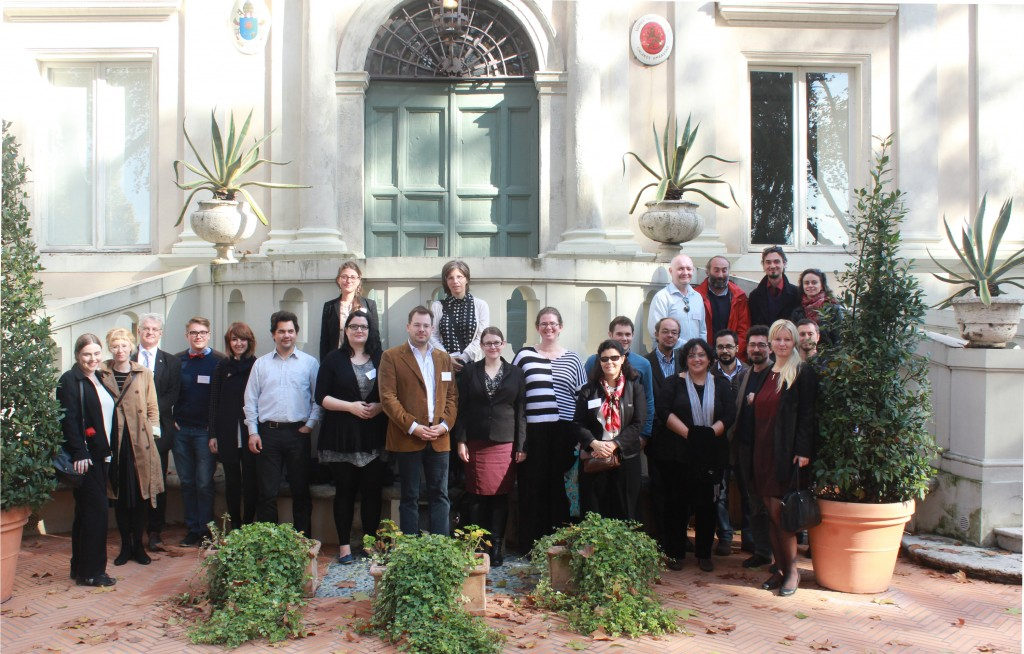 Participants of the Public and Private in the Roman House and Society Conference 2014 at Villa Lante.