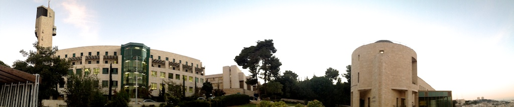 Photo 2. Left: The Rothberg International School. Right: The Yitzhak Rabin Building for the World Center of Jewish Studies. (Photo: Herbert Chan)