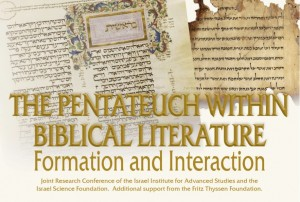 "Photo 3. Poster advertising the conference ""The Pentateuch within Biblical Literature,"" May 25–29, 2014."