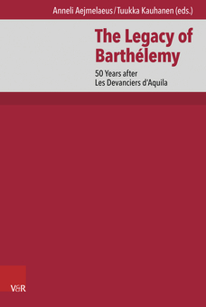 "New Book ""The Legacy of Barthélemy"" (V&R, 2017)"