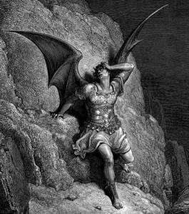 Gustave Doré, Depiction of Satan, the central character of John Milton's Paradise Lost, c. 1866. Public Domain.