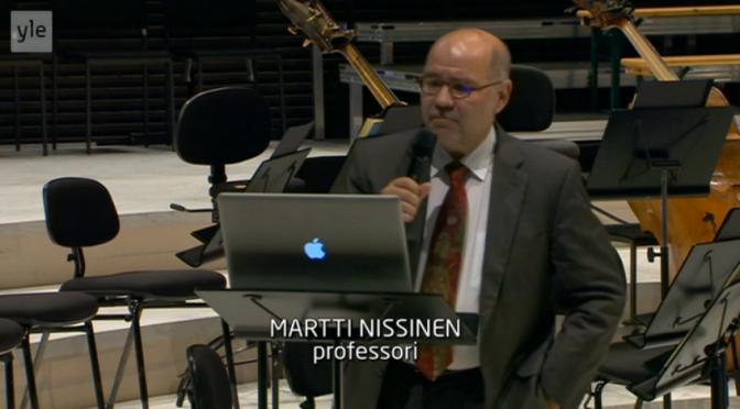 Martti Nissisen luomiskertomusluento edelleen katsottavissa