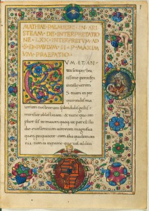 Wikipedia commons. Manuscript BSB Clm 627, Latin translation of the letter of Aristeas, ca. 1480