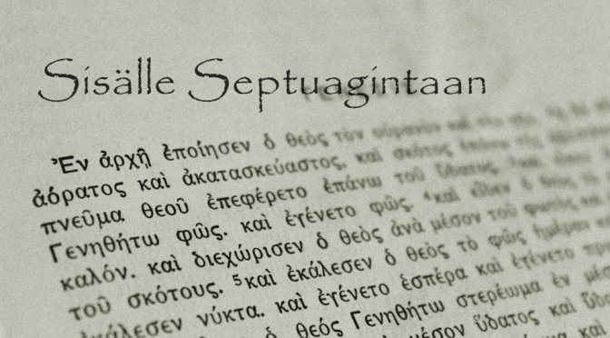 Sisälle Septuagintaan -symposium (ke 28.9. – to 29.9.2016)