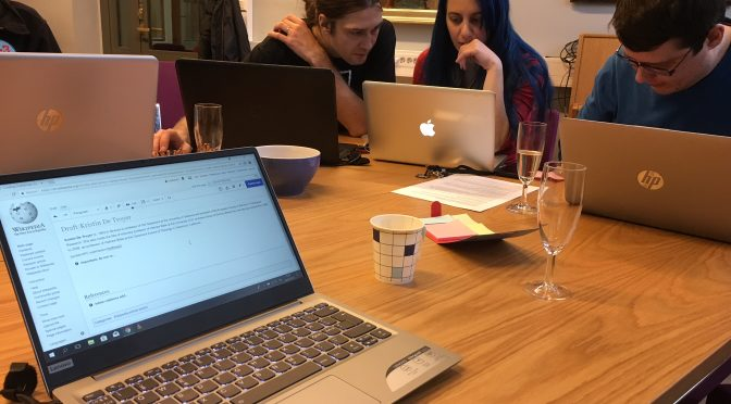Celebrating the International Women's Day 2018 with a Wikipedia edit-a-thon