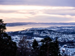 View over Oslo from the Holmenkollen