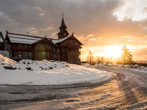 The conference venue on the Holmenkollen