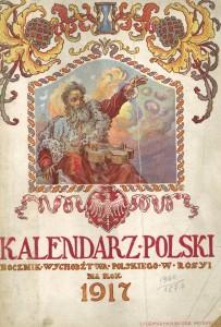 Art nouveau kukkii vuoden 1917 kalenterissa.
