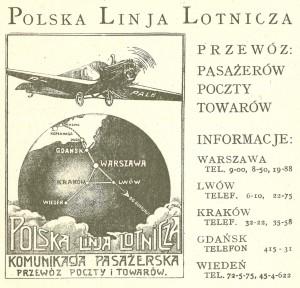 Lentomatkamainos vuodelta 1926