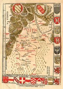 Lotharingia vastum regnum. Ptolemaios, Klaudios (1513).