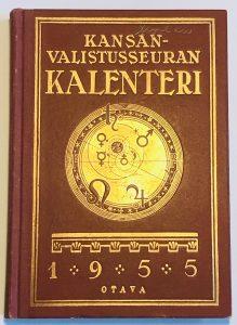 Kansanvalistusseuran kalenteri 1955 kansi