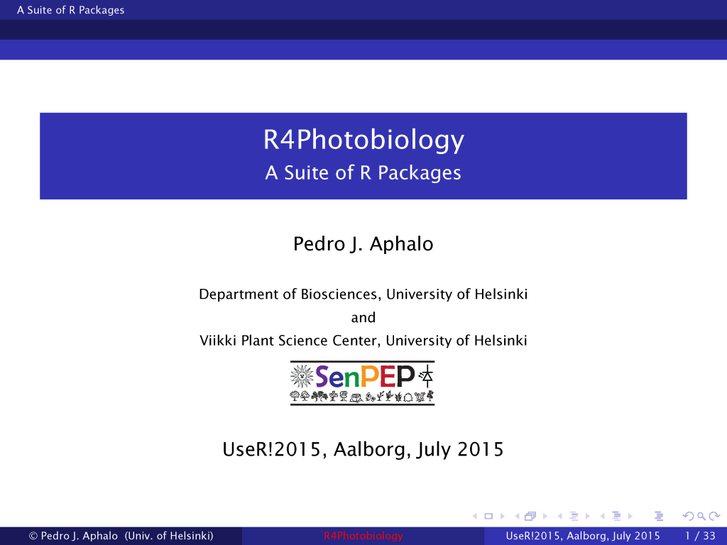 First public presentation on the R packages I have been working on.