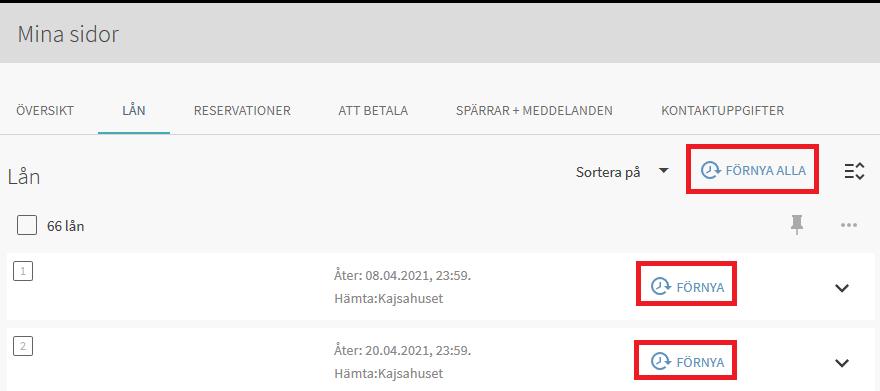 I Helkas användargränssnitt under rubriken Tillgänglighet: Gör en reservation, inringad på höger sida av reservationstexten, indikerad med den röda pilen