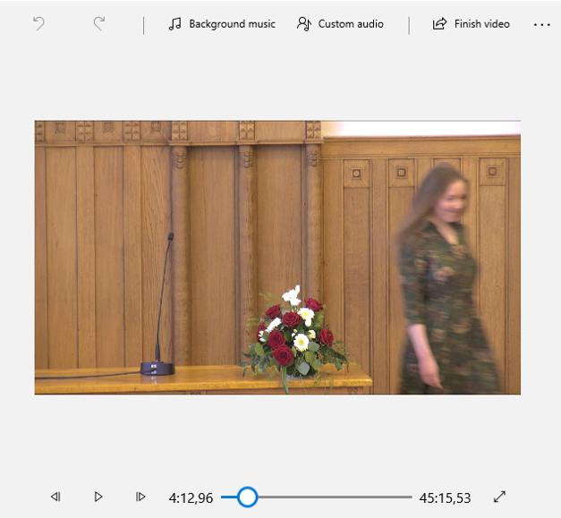 Bild. Win 10 video editor