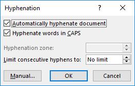 Language settings, hyphenation and language checking