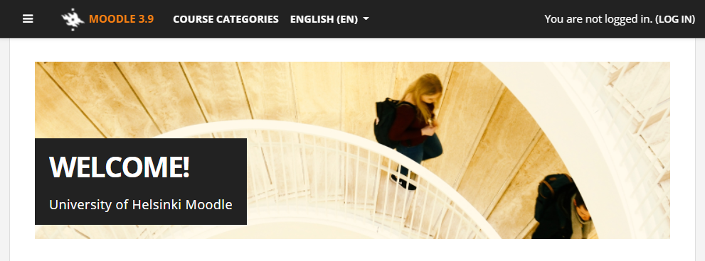 Picture: Moodle front page