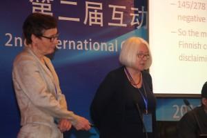 Helasvuo and Laury talk in Shanghai