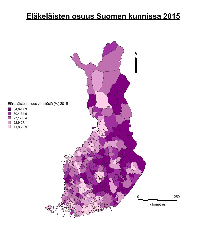 Eläkejakauma2015