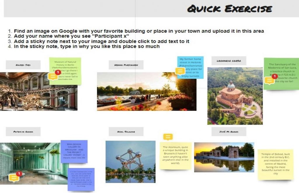 Example of an introductory assignment for an online course