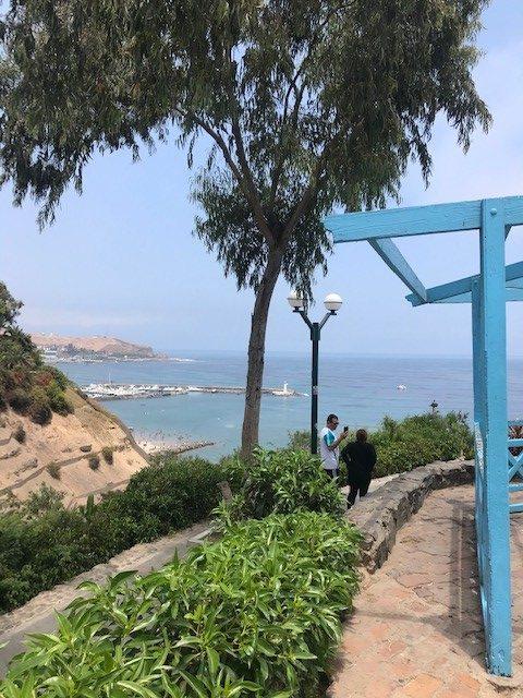 Näkymä Baraconasta merelle