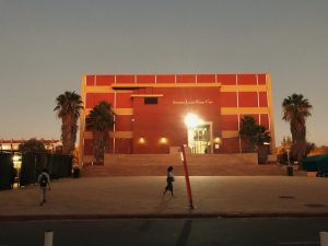 UNAM:s library during the evening light