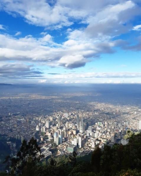 Bogota näkymä Monserrate-vuorelta