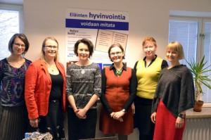 In the picture from the left: Tiina Kauppinen, Sari Salminen, Jenni Haukio, Anna Valros, Laura Hänninen ja Satu Raussi.