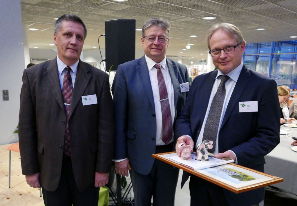 Anders Aland and Mait Klaasssen from Tartu with Antti Sukura.
