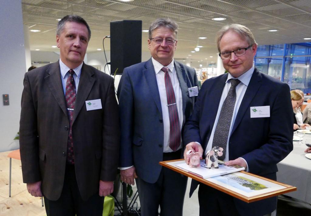 Anders Aland and Mait Klaasssen from Tartu with Antti Sukura.