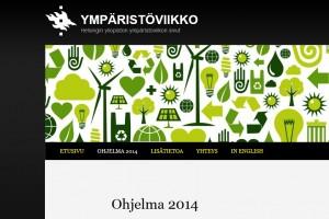Pientä ensimakua ympäristöviikon nettisivuista