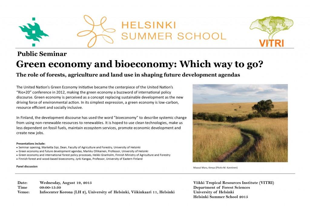 Public seminar poster_Green economy_final