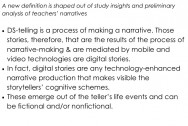 Definition of digital storytelling resulting from thematic analysis