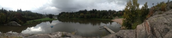 The panorama taken from the Vantaa River.