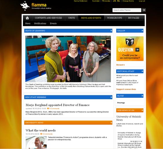 Flamman News and events -sivu